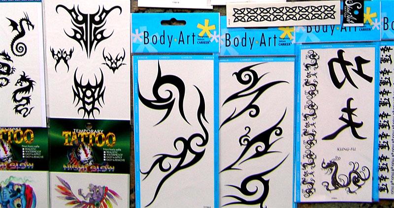 Увеличить временные татуировки
